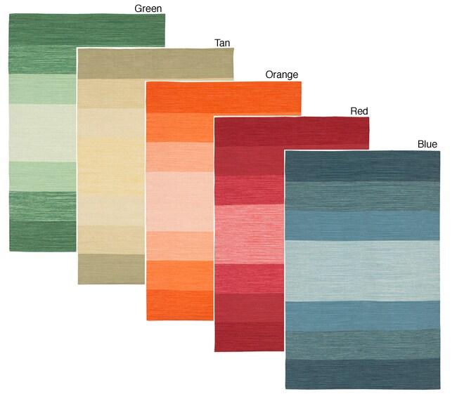 Artist's Loom Handmade Flatweave Casual Reversible Natural Eco-friendly Cotton Rug (2'6 x 7'6) (Set of 3)