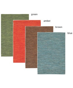 Artist's Loom Handmade Flatweave Casual Reversible Natural Eco-friendly Cotton Rug (3'6 x 5'6) (Set of 3)
