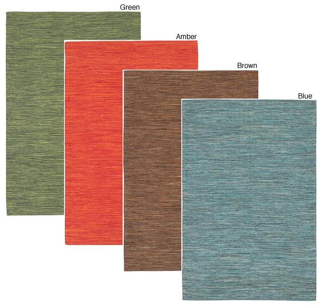 Artist's Loom Handmade Flatweave Casual Reversible Natural Eco-friendly Cotton Rug (5'x7'6) (Set of 2)
