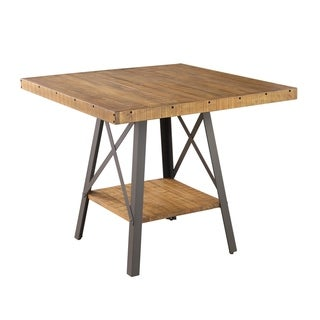 Emerald Home Chandler Brown Gathering Height gathering height dining table - rustic dark walnut