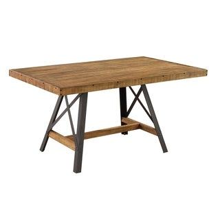 Emerald Home Chandler reclaimed brown dining table D100-10 - reclaimed brown