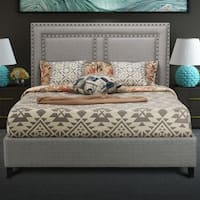 Uptown Upholstered Platform Bed Light Grey