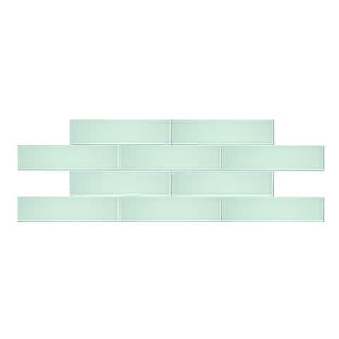 "3"" x 12"" Seafoam Glass Subway Tile"