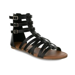 Olivia Miller 'Tampa' Multi Strapped Triple Buckle Gladiator Sandals