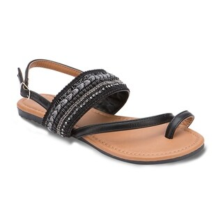 Olivia Miller 'Ormond' Multi Beaded Rhinestone Boho Buckle Strap Sandals