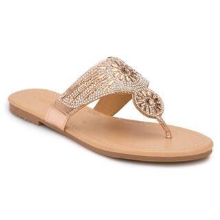d63b6b221 Olivia Miller  Destin  Multi Rhinestone Sandals