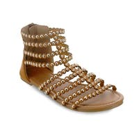 Olivia Miller 'Altamonte' Circle Shape Studded Multi Strap Sandals
