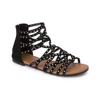 Olivia Miller 'Kissimmee' Multi Ab Heat Sealed Rhinestone Studded Sandals