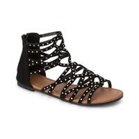 56b2f9c6495067 Olivia Miller  Kissimmee  Multi Ab Heat Sealed Rhinestone Studded Sandals