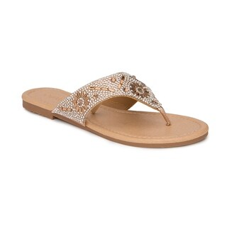 Olivia Miller 'Tamarac' Multi Circle Rhinestone Sandals