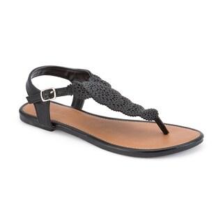 Olivia Miller 'Lantana' Cut Out Buckle Strap Sandals