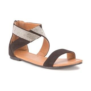 Olivia Miller 'Labelle' Multi Rhinestone Strap Sandals