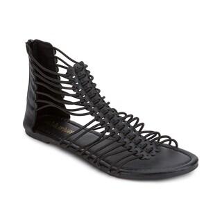 Olivia Miller 'Oviedo' Multi Elastic Strap Gladiator Sandals