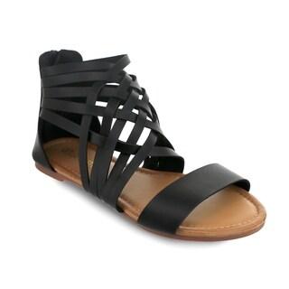 Olivia Miller 'Bartow' Multi Criss Cross Cross Strap Gladiator Sandals