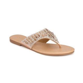 Olivia Miller 'Eustis' Multi Tear Drop Rhinestone Sandals