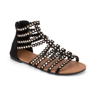 Olivia Miller 'Brooksville' Diamond Shape Studded Multi Strap Sandals