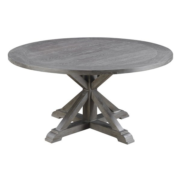 Emerald Home Paladin Rustic Charcoal Gray Round Dining Table