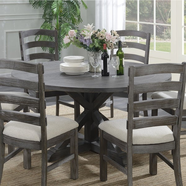 """Shop Emerald Home Paladin Rustic Charcoal Gray 60"""" Round ..."""