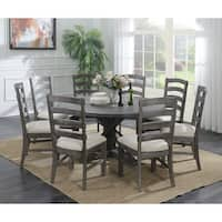 Emerald Home Paladin Rustic Charcoal Gray  Round Dining Table - rustic charcoal gray