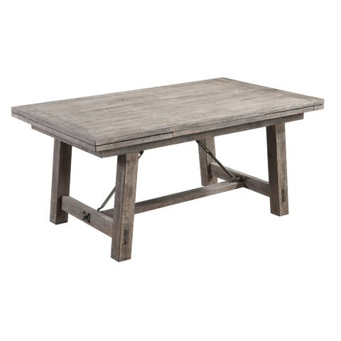 Carbon Loft Fanning Charcoal 68-inch Dining Table with Timber Base