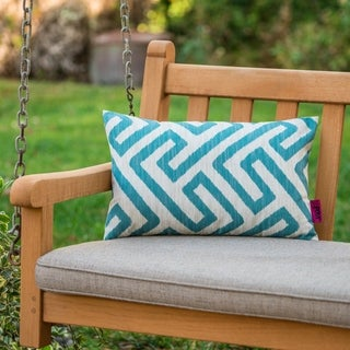 Realm Outdoor Patterned Rectangle Pillow by Christopher Knight Home