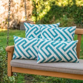 Link to Realm Outdoor Patterned Pillow (Set of 4) by Christopher Knight Home Similar Items in Outdoor Cushions & Pillows