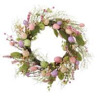 "Transpac 24"" Faux Easter Egg Wreath"
