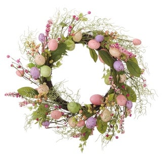 "Transpac 24"" Faux Easter Egg Wreath"