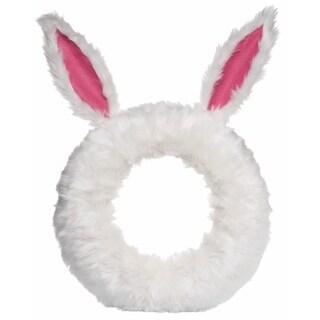 Transpac Furry Bunny Wreath