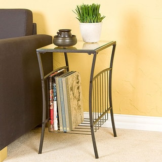 Copper Grove Cirio Steel Magazine Table