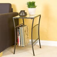 Porch & Den RiNo Ringsby Steel Magazine Table
