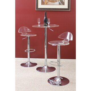 Porch & Den Bryson Village Channery Clear Acrylic Bar Stool