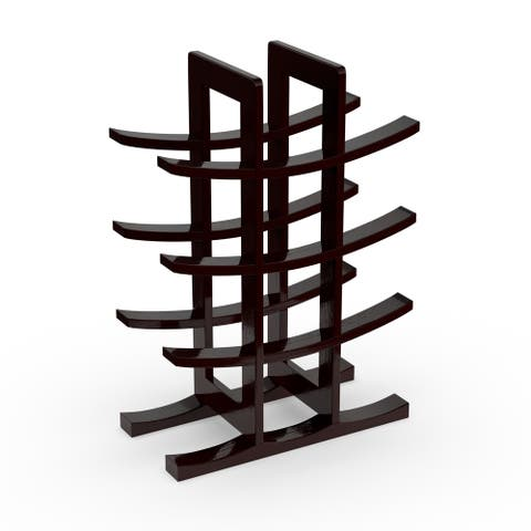 Porch & Den Ortiz Dark Espresso Bamboo 12-bottle Wine Rack - Brown