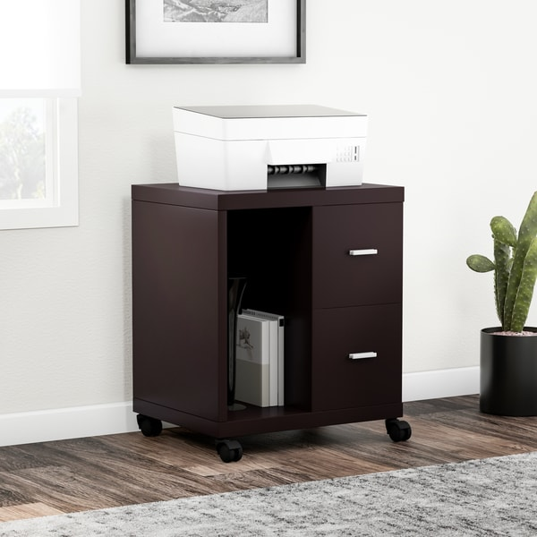 Shop Porch Amp Den Fernald 2 Drawer Computer Stand Free