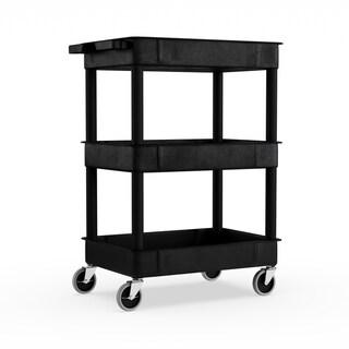 Porch & Den Bolivar Mercer Black 3-tub Shelf Utility Cart