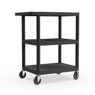 Porch & Den Dilworth Ewing Black 3-shelf Utility Cart with Swivel Casters