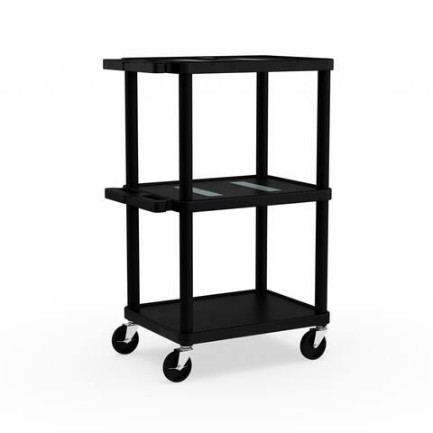 Porch & Den Bolivar Mercer Multi-height Plastic Cart