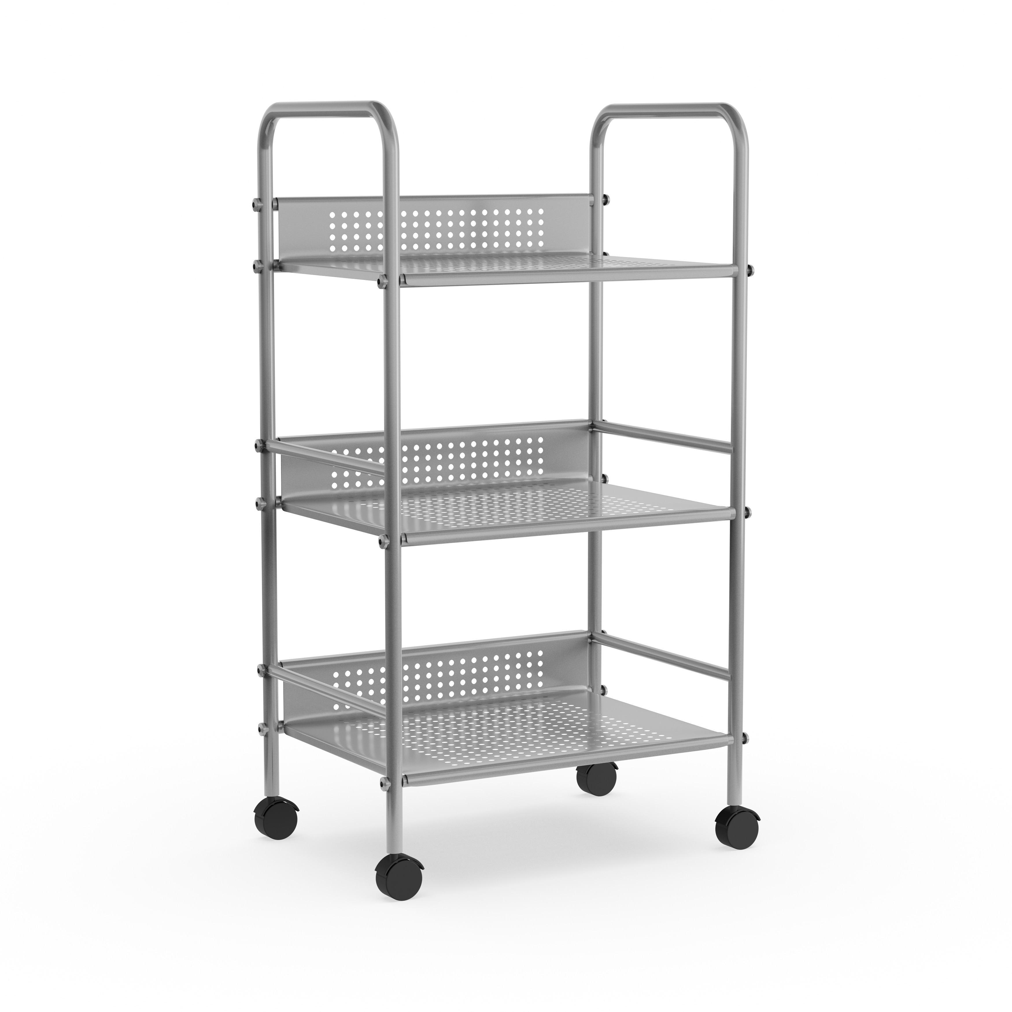 Porch & Den Sycamore 3-tier Metal Rolling Cart