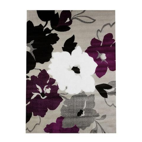 "Silver Orchid Boyer Dasia Plum Area Rug - 7'10"" x 10'6"""