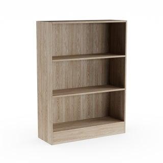 Porch & Den Kern Alethea Short Wide 3-shelf Bookcase