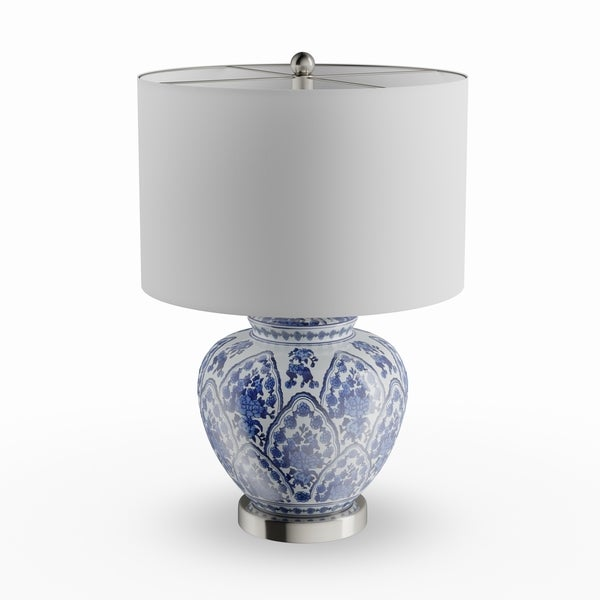 Shop Copper Grove Beauvais 20 Inch Blue And White Ceramic Table Lamp