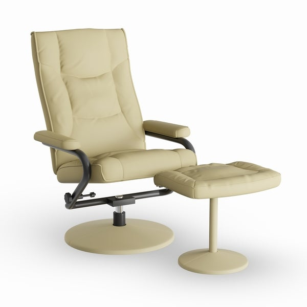 Strick U0026 Bolton Luc Contemporary Leather Recliner And Ottoman