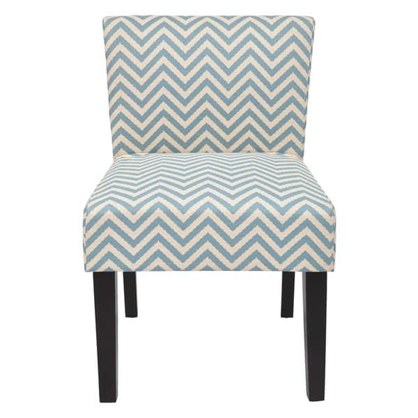 Amazing Shop Osp Home Furnishings Mist Blue Chevron Accent Chair Theyellowbook Wood Chair Design Ideas Theyellowbookinfo