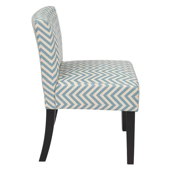 Super Shop Osp Home Furnishings Mist Blue Chevron Accent Chair Theyellowbook Wood Chair Design Ideas Theyellowbookinfo