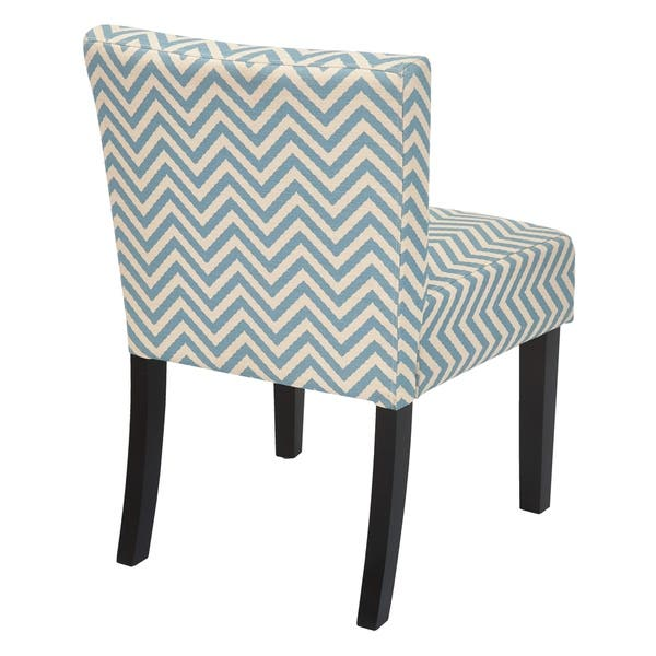 Surprising Shop Osp Home Furnishings Mist Blue Chevron Accent Chair Theyellowbook Wood Chair Design Ideas Theyellowbookinfo