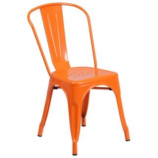 Havenside Home Birmingham Industrial Stackable Metal Side Chair