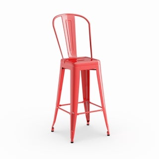 Porch & Den Stonehurst Blenheim Metal Bar Stool