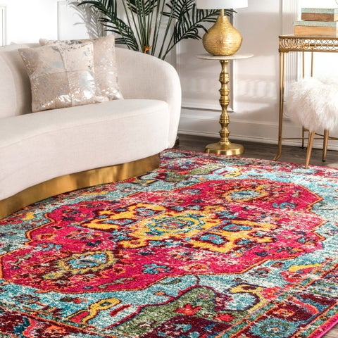 The Curated Nomad Beulah Abstract Vintage Oriental Rug (7'10 x 11') - 7'10 x 11'