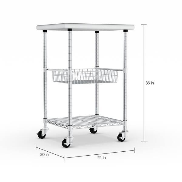 Shop Porch & Den Allerton Stainless Steel Kitchen Work Table ...