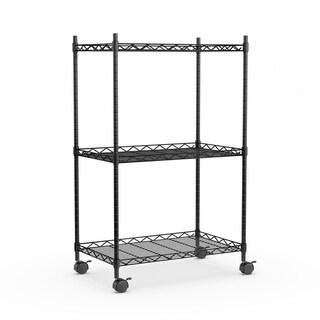 Porch & Den Lacour Black Chrome Storage Cart